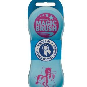 Die Magic Brush Soft Bürste ist die neue Pflege- und Schmusebürste die sich ideal für die besonders sensiblen Bereiche bei Pferden und Ponys eignet.
