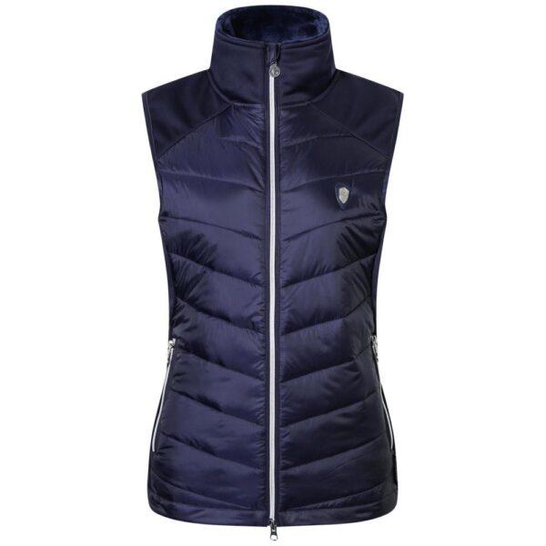 DieCovalliero Combiweste H/W 2020ist perfekt geeignet für sportliche Aktivitäten in der Übergangszeit und kann auch gut unter einer Jacke getragen werden.